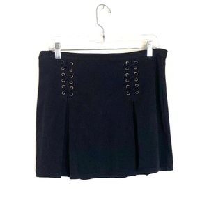 Black short grunge skirt